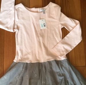 NWT Okaidi Girl's Dress Top